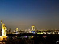 台場海濱公園(彩虹橋、自由女神像)