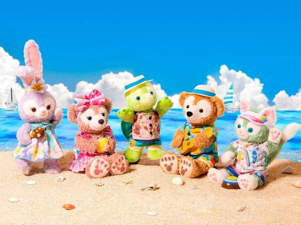 阿囉哈~達菲家族夏季新造型!東京迪士尼海洋限定商品超級無敵Q