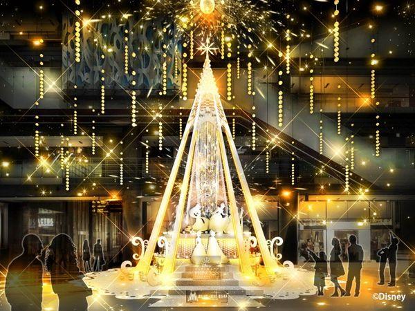 「迪士尼公主」跳舞燈飾也太夢幻了!只在「GRAND FRONT大阪」絕美登場!
