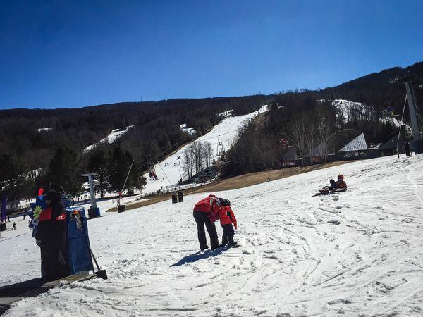 一個人雪地裡的獨白。麻州胡桃鉗雪場
